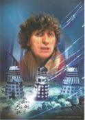 Dr Who Tom Baker signed 12 x 8 inch colour photo. Condition 9/10. Good Condition. All autographs