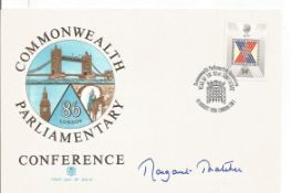 Margaret Thatcher signed Commonwealth Parliamentary Conference FDC. Good Condition. All autographs