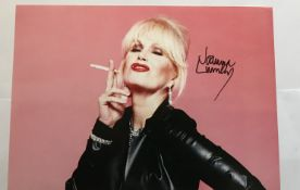 Ab Fab Joanna Lumley as Patsy signed 12 x 8 inch cheeky colour photo. Good condition. All signed