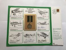 Battle of Britain WW2 Wg Cdr Don Kingaby DSO DFM AFC signed A4 size Award of the Air Efficiency