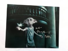 Harry Potter Toby Jones as Dobby signed 10 x 8 inch colour photo. Good condition. All signed