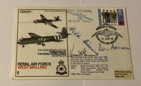 WW2 Arnhem Gen Wilhelm Bittrich, WW1 and WW2 signed Horsa Glider cover, also signed by the Pilot Don