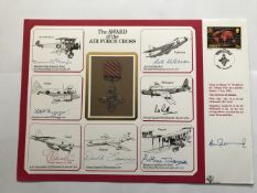 MRAF Arthur Harris AFC WW1 pilot and WW2 Bomber Command leader signed A4 size cover The Award of the