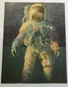 Apollo Astronaut Alan Bean signed colour 14x 11 inch print of his painting That's How It Felt to