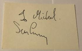 James Bond Sean Connery signed vintage white card to Michael. Good condition. All signed pieces come