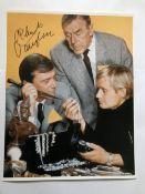 Robert Vaughn signed 16 x 12 inch colour photo. Good condition. All signed pieces come with a