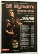 Rolling Stones Bill Wyman signed 16 x 12 inch colour Rhythm Kings Tour flyer, little creased to