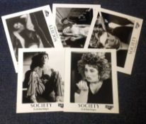 Society collection of five black and white lobby cards from the 1989 American body horror film