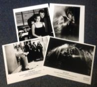 The Relic collection of 4 vintage black and white lobby cards from the 1997 monster-horror film