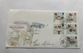 Eric Sykes comedy legend signed 2001 Scott covers Christmas FDC. Good condition. All signed