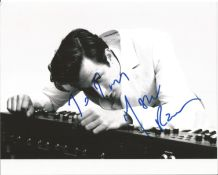 Mark Ronson signed 10x8 black and white photo. Dedicated. Good Condition. All autographs come with a