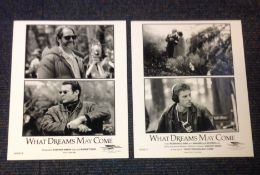 What Dreams May Come two vintage black and white lobby cards from 1998 American fantasy drama film