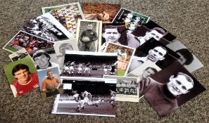 Football collection over 20 assorted unsigned vintage original photos includes names such as Billy