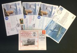 World War II collection 5 flown covers includes 50th Anniversary of the First Flight of Spitfire