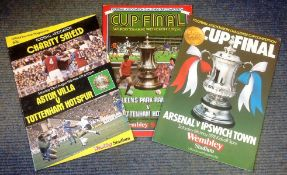 Football vintage collection 3 programmes from the seventies and eighties includes QPR v Tottenham
