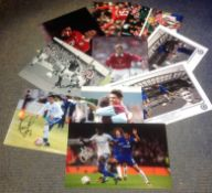 Football collection 10 assorted signed photos some well-known names from the English game includes