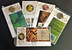 Benham FDC collection includes 5, 22ct Gold border covers limited edition Prestige Booklet