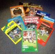 Football England vintage programme collection 10 programmes dating back to the early eighties