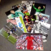 Football collection 10 signed assorted colour photos from some well-known names from the British