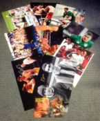 Sport collection 10 signed assorted photos from some legendary names includes John Aston, Mark