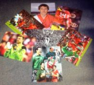 Football Liverpool collection 7 assorted signed photos all from Anfield players past and present
