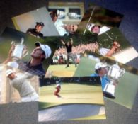 Golf collection 10 unsigned colour photos images from some of the greats of the game includes Phil