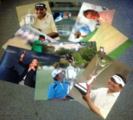 Golf collection 9 unsigned colour photos some fantastic images of house hold names of the game