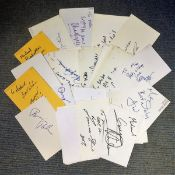 TV and Film collection 40 signed 6x4 white cards some well-known names includes Andrew Jeffers,