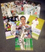 Cricket collection 7 signed assorted photos from some well-known names such as Ish Sodhi, Colin de