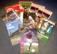 Football vintage collection 10 programmes includes Cup Final, Testimonials and League some rare