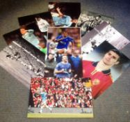 Football collection 10 signed assorted photos from some great names from the past and present
