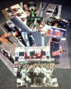 Motor Racing Collection 12 signed colour photos from formula One and Sports Car some good signatures