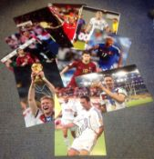 Football collection 10 signed assorted photos from some well-known around Europe past and present