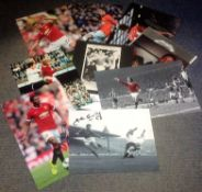 Football Manchester United collection 10 signed assorted photos from players all that have played