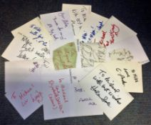 TV and Film collection 16 signed white cards names include Margaret Ashcroft, Jennie Dale, Ellen O'