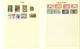 BCW stamp collection on 14 loose album pages. Covers countries A to C. Includes Aden, Antigua,