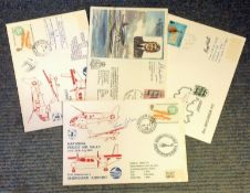 Aviation FDC collection 4 interesting signed flown covers signatures include Toon Ghose, Lt Charles,