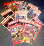 Football Arsenal vintage programme collection 15 programmes dating back to the eighties. Good