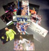 Football 10 assorted signed photos from players past and present some great names include Alex