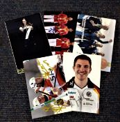 Olympics collection 5 signed photos from medallists from past games such as Sun Yiwen, Andrej Jamsa,