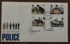 Prime Minister Margaret Thatcher signed 1979 Police FDC. Good Condition. All autographs come with