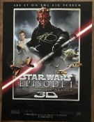 Star Wars Ray Park signed 16 x 12 inch colour print of movie poster. Good Condition. All