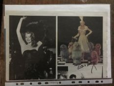 Doris Day signed colour magazine page. Good Condition. All autographs come with a Certificate of