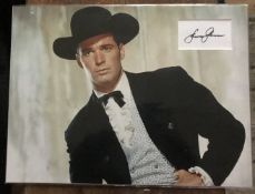 James Garner autograph matted into picture display approx 16 x 12 inches. Good Condition. All