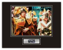 Stunning Display! RARE Image! Dr. Who Tom Baker hand signed professionally mounted display. This