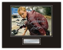 Stunning Display! Terminator III Kristanna Loken hand signed professionally mounted display. This