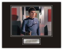 Stunning Display! Star Trek Leonard Nimoy (d) hand signed professionally mounted display. This