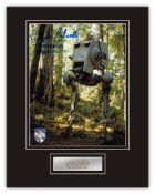 Stunning Display! Star Wars Chewbacca hand signed professionally mounted display. This beautiful