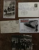 Zeppelin crew veterans collections inc signed card with Six veterans inc Adolf Fischer, Richard
