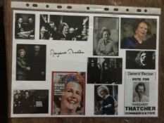 Margaret Thatcher signed A4 paper montage print. Good Condition. All autographs come with a